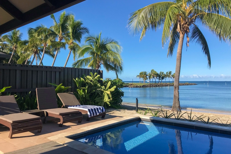 Beachfront Villa at First Landing Resort, Nadi, Fiji.