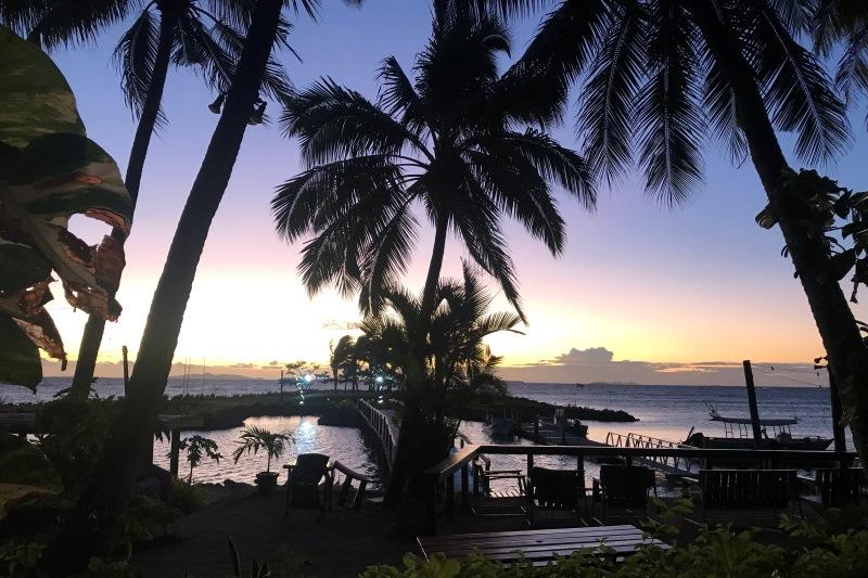 Sunset at First Landing Resort, Nadi, Fii