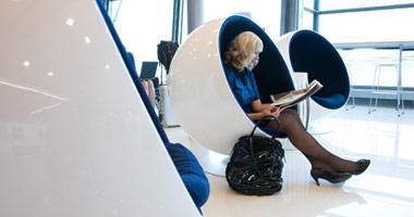 The Funky Finnair lounge